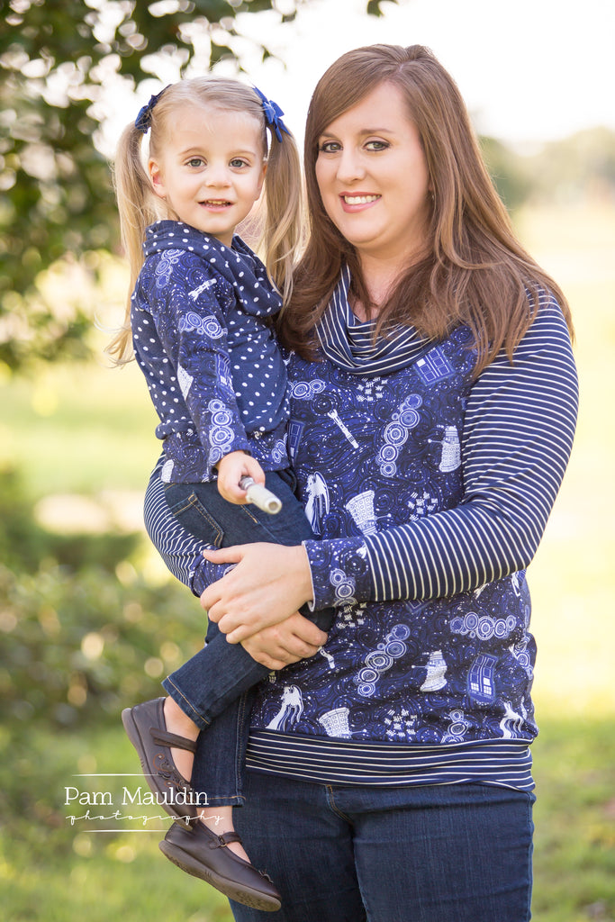 Women & Girl's Going Home Sweater Pattern Bundle - Ellie and Mac, Digital (PDF) Sewing Patterns | USA, Canada, UK, Australia