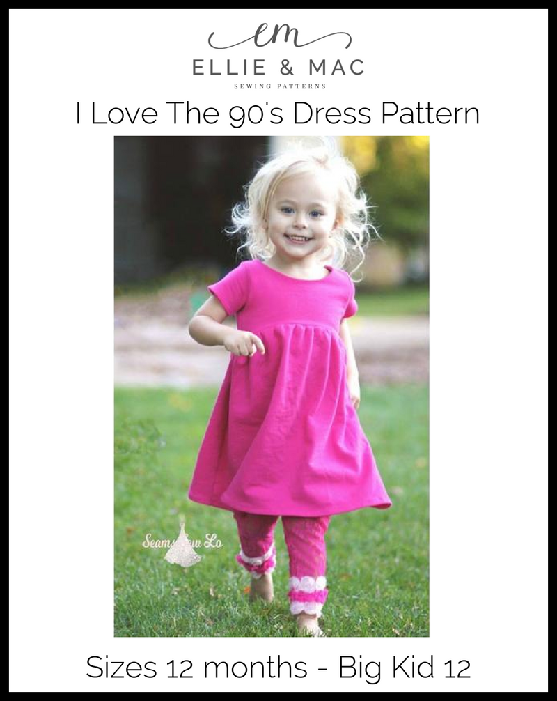 90's Dress Pattern (kid's)