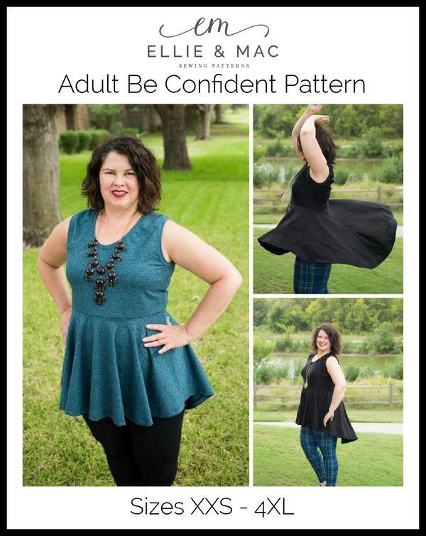 Be Confident Tunic & Dress Pattern (adult)