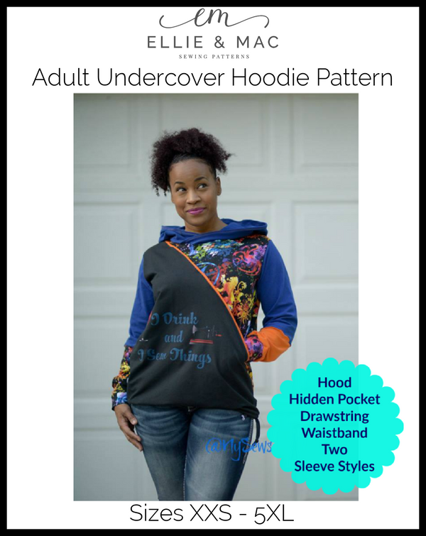 Adult Undercover Hoodie Pattern