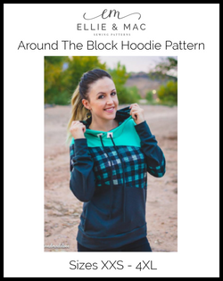 Around the Block Hoodie Pattern (adult)