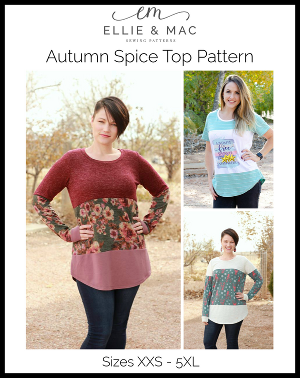 Autumn Spice Top Pattern Wacky