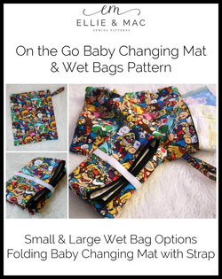 On The Go Baby Changing Mat & Wet Bags Pattern