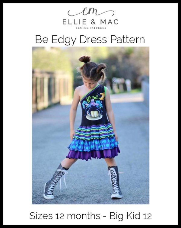 Be Edgy One Shoulder Dress Pattern