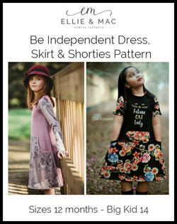 Be Independent Dress, Skirt & Shorties Pattern