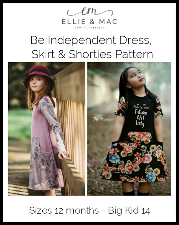 Be Independent Dress, Skirt & Shorties Pattern Wacky