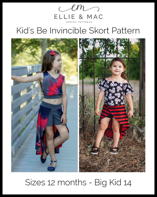 Kids Be Invincible Skort Pattern