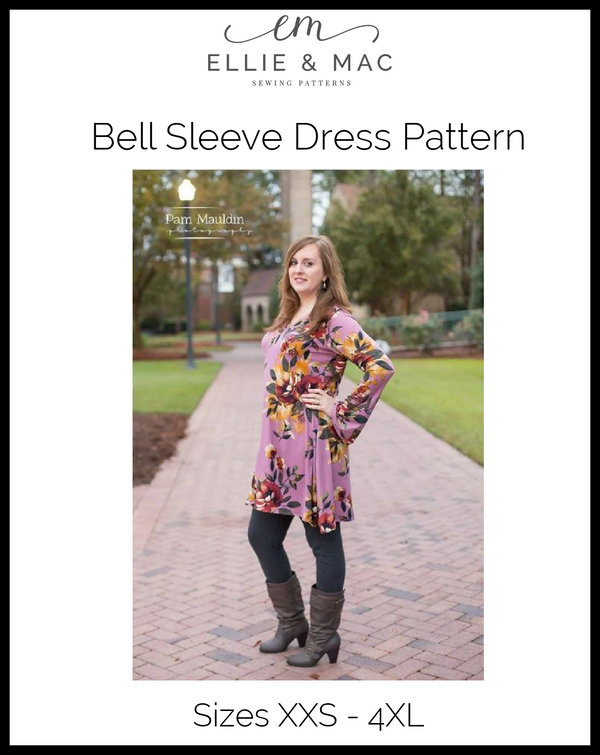 Bell Sleeve Dress Pattern