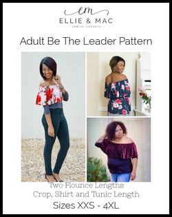 Be The Leader Top Pattern (adult)
