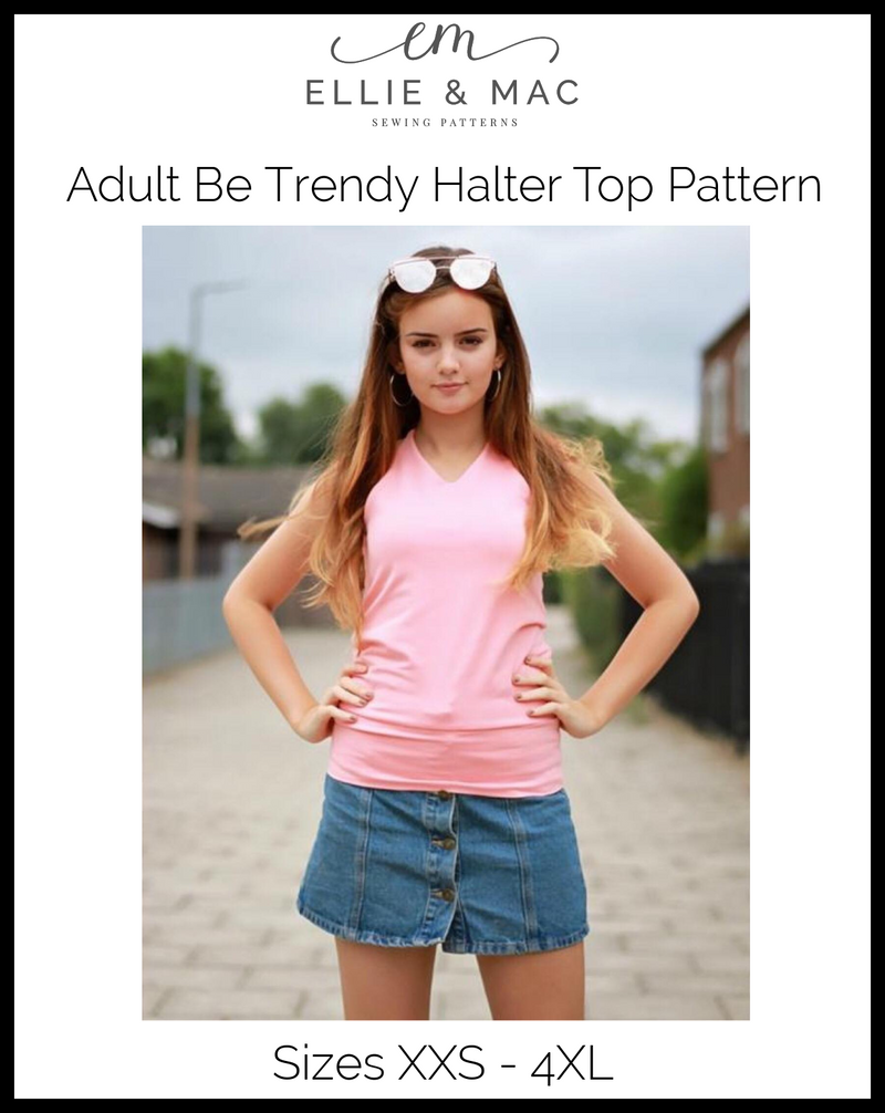 Be Trendy Halter Top Pattern (adult)