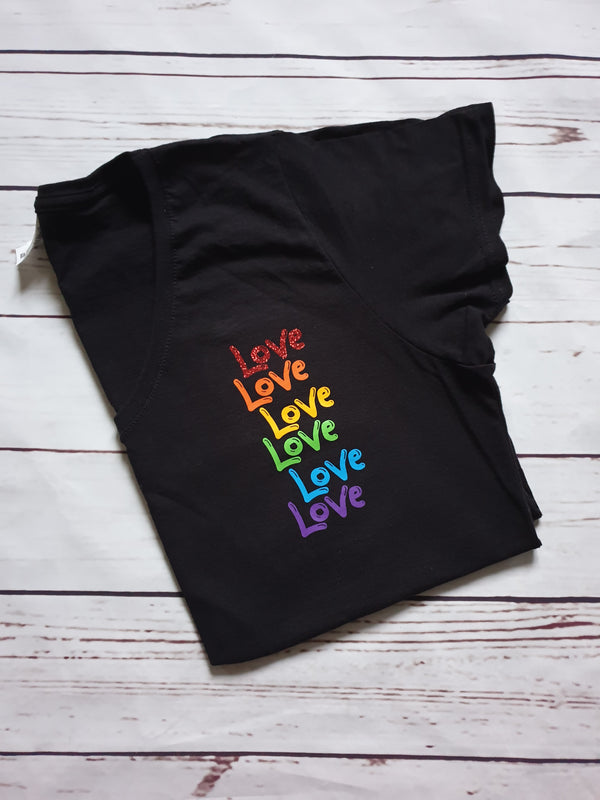LOVE Rainbow Cut File