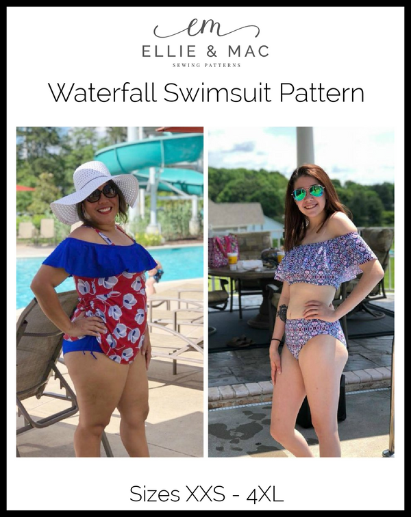 Waterfall Swimsuit Mix & Match Pattern (adult's) Wacky