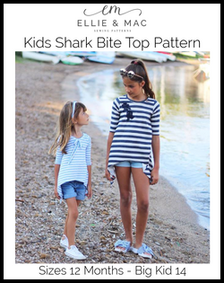 Kids Shark Bite Top Pattern