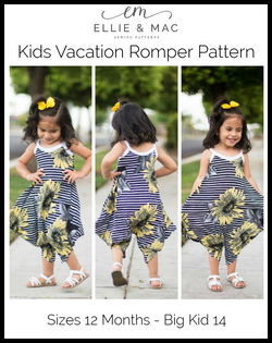 Kids Vacation Romper Pattern