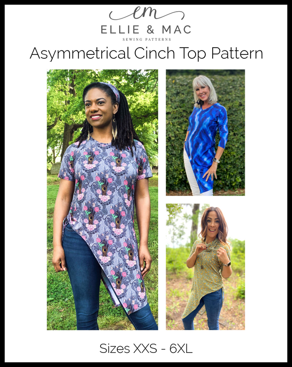 Asymmetrical Cinch Top Pattern