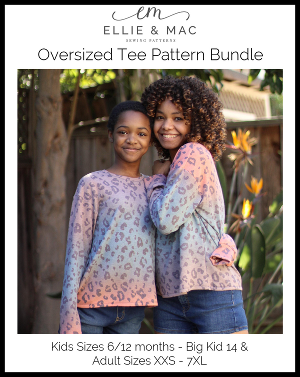 Oversized Tee Pattern Bundle