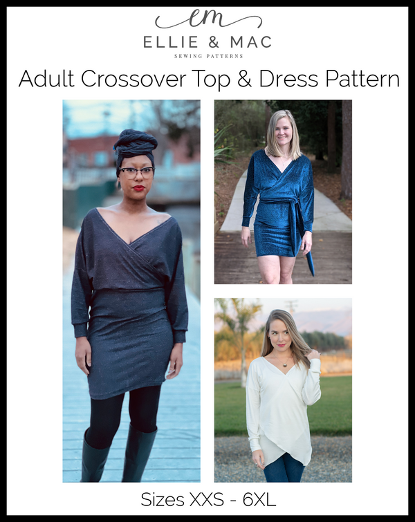 Crossover Top & Dress Pattern