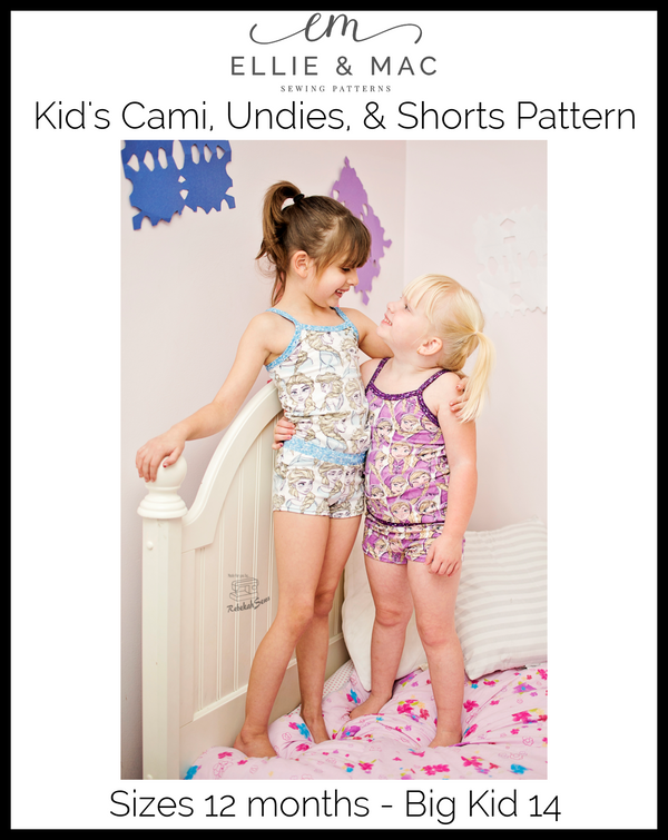 Kid's Cami, Undies, & Shorts Pattern Wacky
