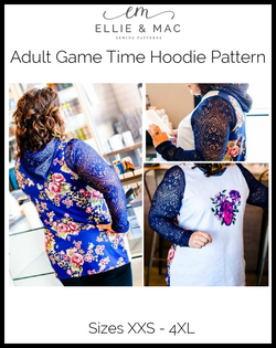 Game Time Hoodie Pattern (adult's)
