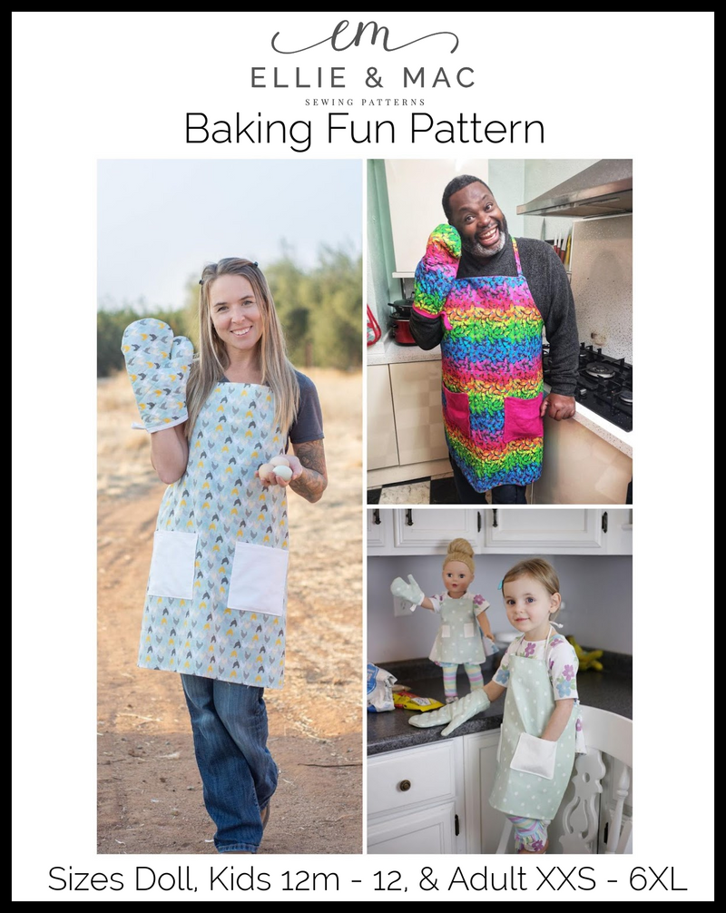 Baking Fun Pattern: Apron & Oven Mitt