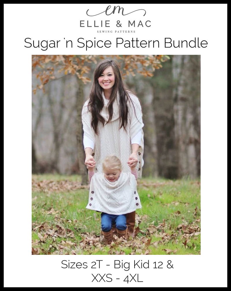 Child & Adult Sugar n' Spice Poncho Pattern Bundle