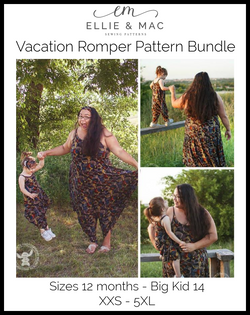 Child & Adult Vacation Romper Bundle