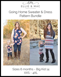 Child & Adult Going Home Sweater Pattern Bundle