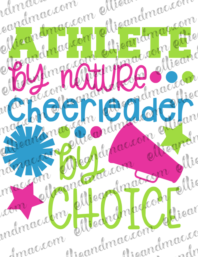 Athlete By Nature Cheerleader By Choice SVG Cutting File