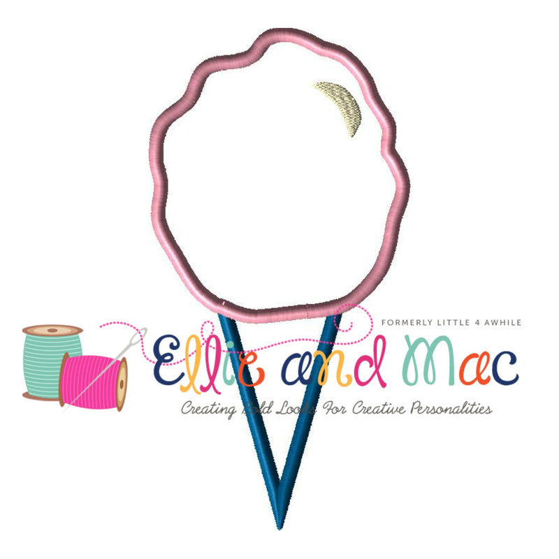 Cotton Candy Applique Embroidery Design - Ellie and Mac, Digital (PDF) Sewing Patterns | USA, Canada, UK, Australia