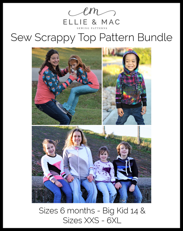 Adult & Kid's Sew Scrappy Top Pattern Bundle