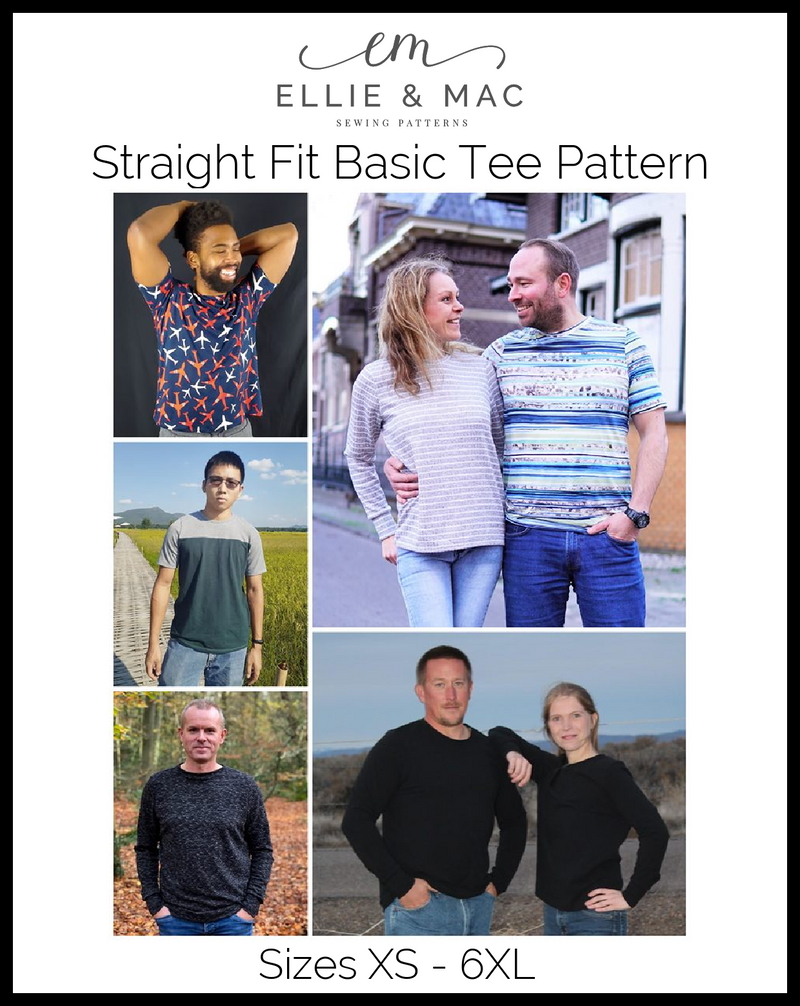 Straight Fit Basic Tee Pattern (Updated)