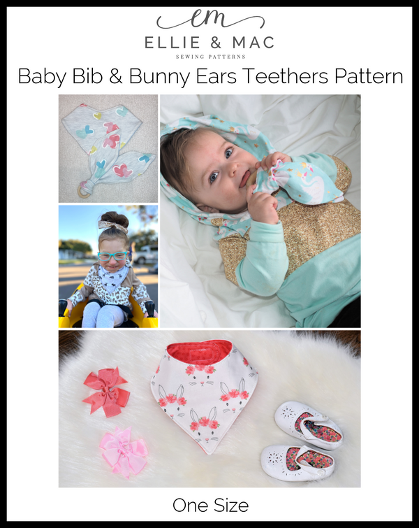 Baby Bib & Bunny Ears Teether Pattern