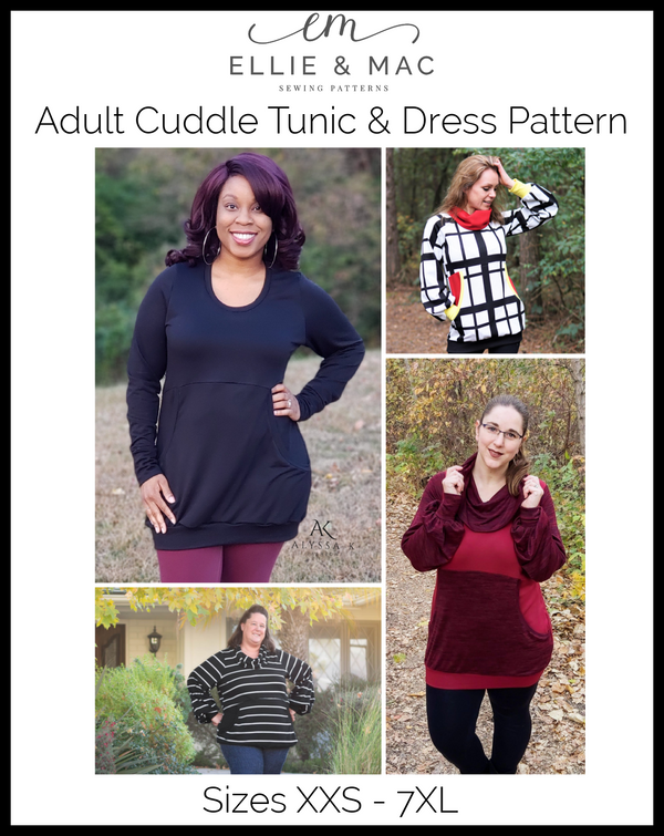 Adult Cuddle Tunic & Dress Pattern Wacky