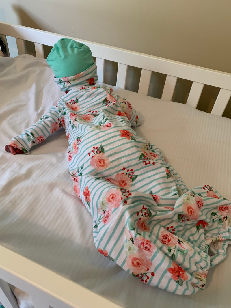 Baby Sleeper Gown & Cap Pattern