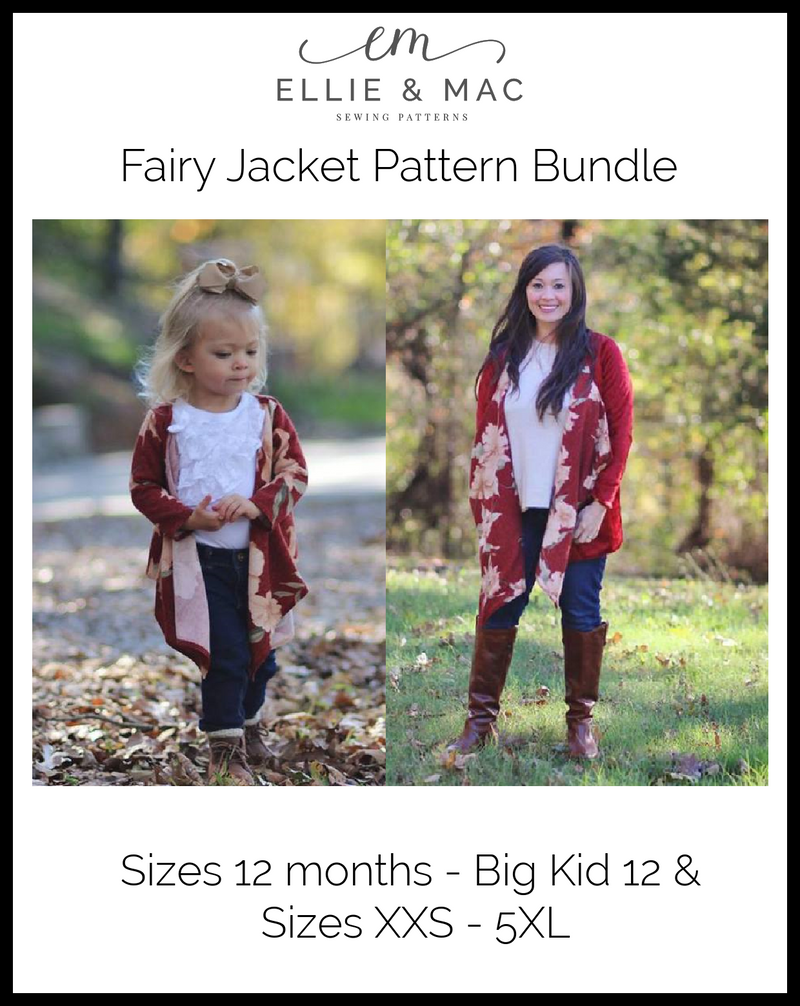Child & Adult Fairy Jacket Pattern Bundle Pack