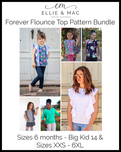 Forever Flounce Top Pattern Bundle