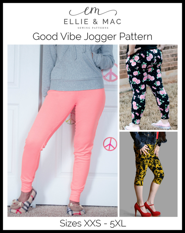 Good Vibes Jogger Pattern