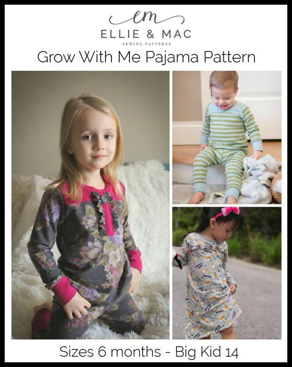 Kids Grow With Me Pajama Pattern