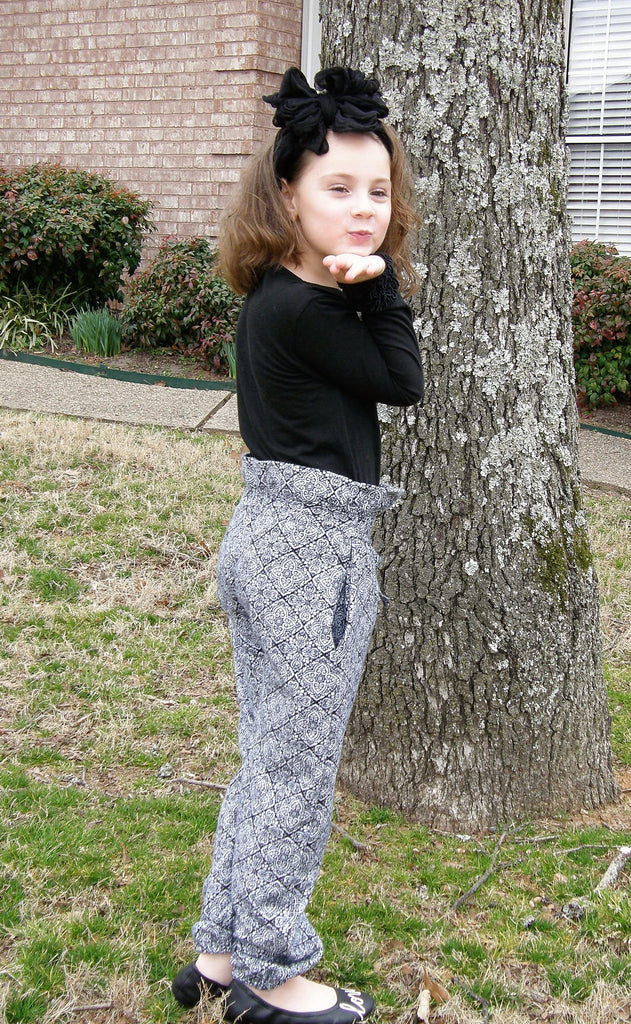Kids Paper Bag Pants Pattern