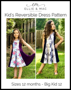 Kids Reversible Dress Pattern