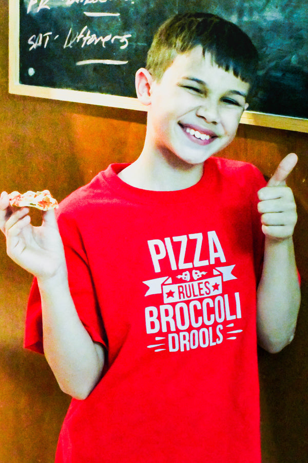 Pizza Rules Broccoli Drools Cut File Wacky