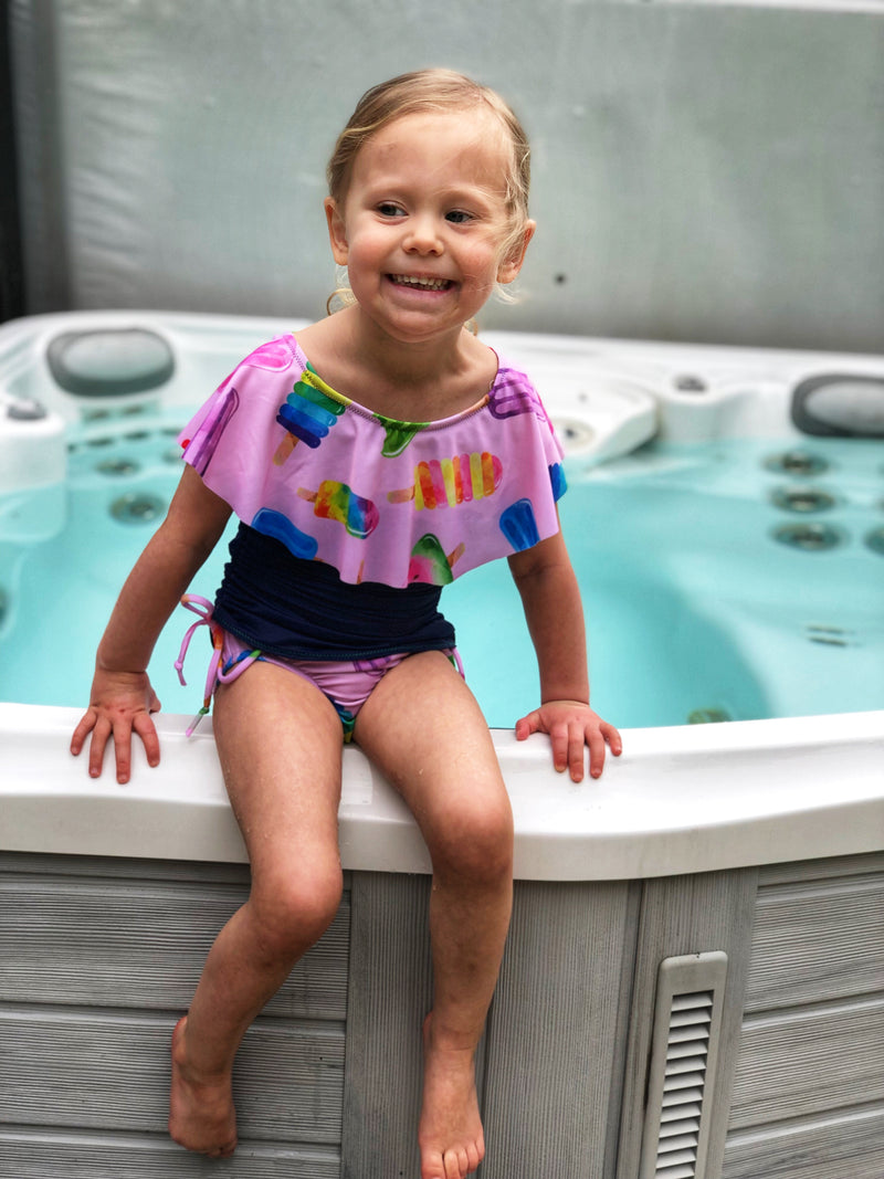 Kids Waterfall Swimsuit Mix & Match Pattern