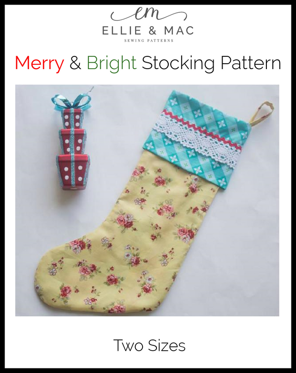 Merry & Bright Stocking Pattern