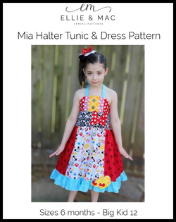 Mia Halter Tunic & Dress Pattern