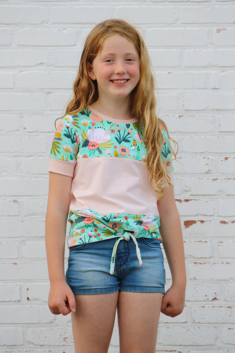 Kids Color-Block Tie Top Pattern