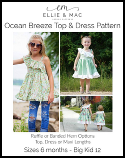 Ocean Breeze Top & Dress Pattern