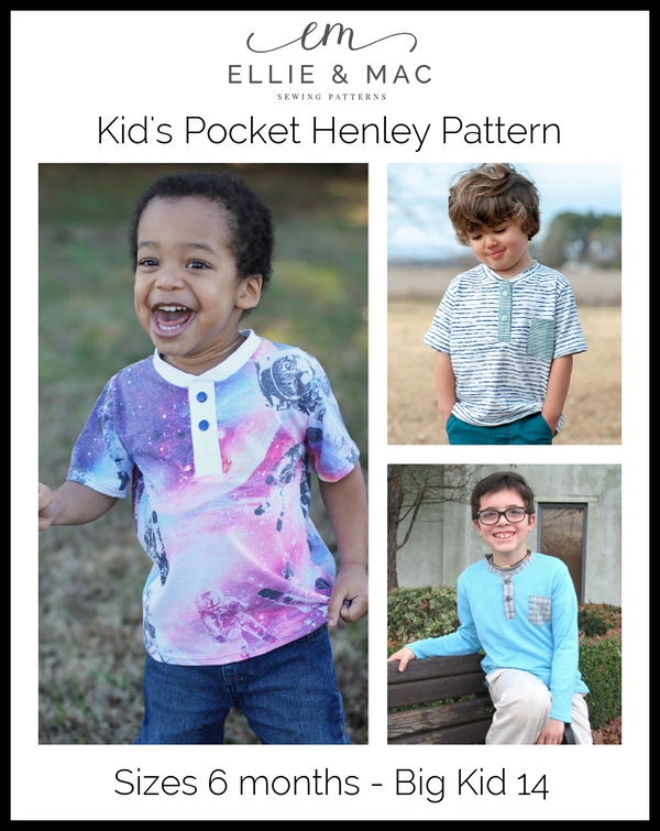 Pocket Henley Top Pattern
