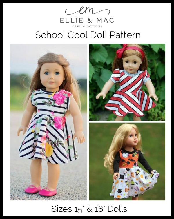 School Cool Doll Pattern