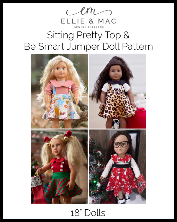 Sitting Pretty Top & Be Smart Jumper Doll Pattern Wacky