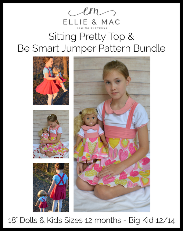 Sitting Pretty Top & Be Smart Jumper Kids & Doll Pattern Bundle